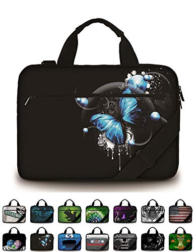 "ff2d6453d Funky Planet 15"" 15.6"" inch Shoulder Laptop Messenger Solid  Strong Canvas Sleeve Case Bag"