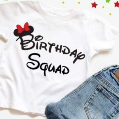 Birthday Squad Tees Disney Shirt Party FavorsBirthday Shirts Favors Handmade