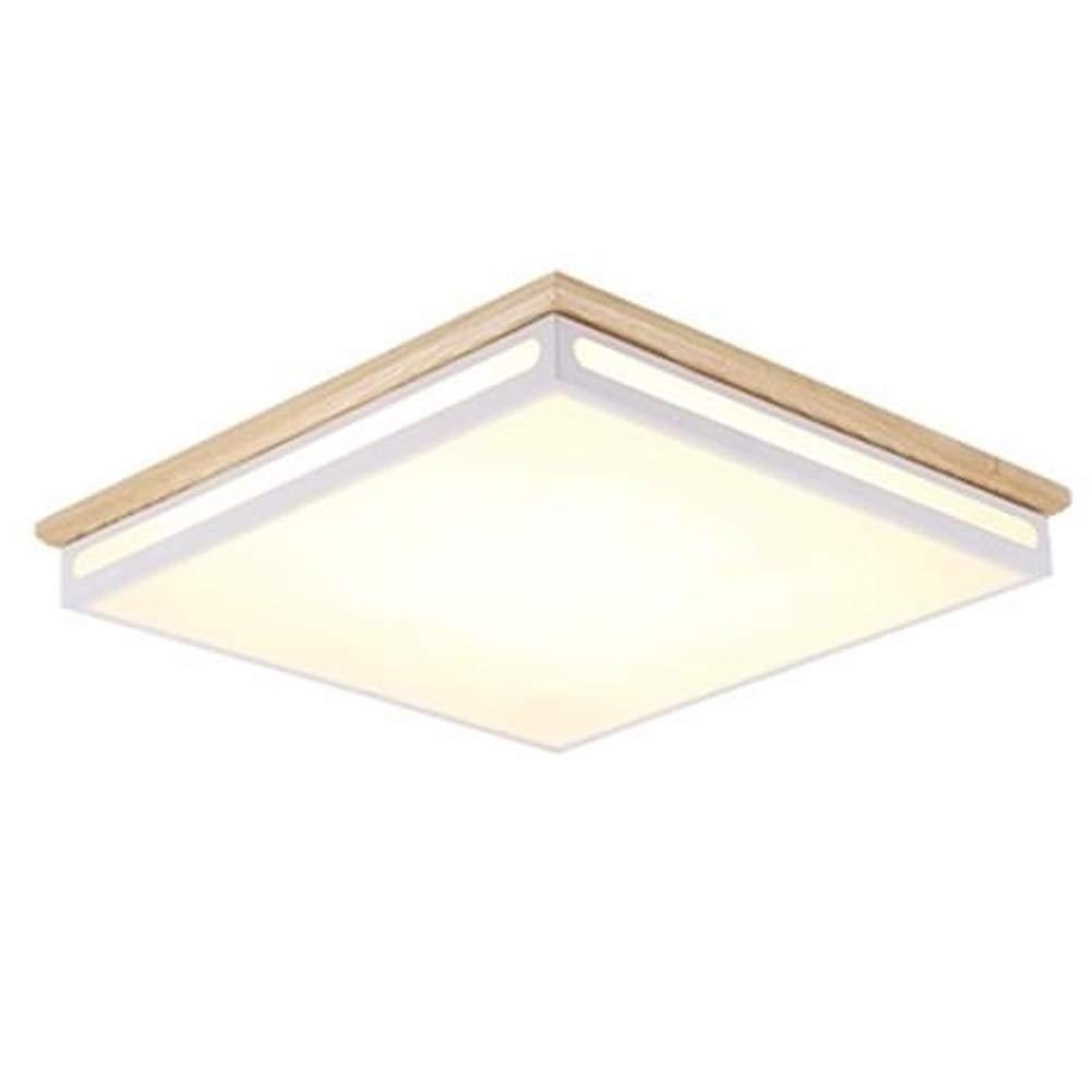 Holz Moderne Deckenleuchte, Erröten-einfassung LED 24W Acryl Deckenlampe 18  Schlafzimmer Wohnzimmer Corridoio Gang-43x43x6.5cm Warmes Licht