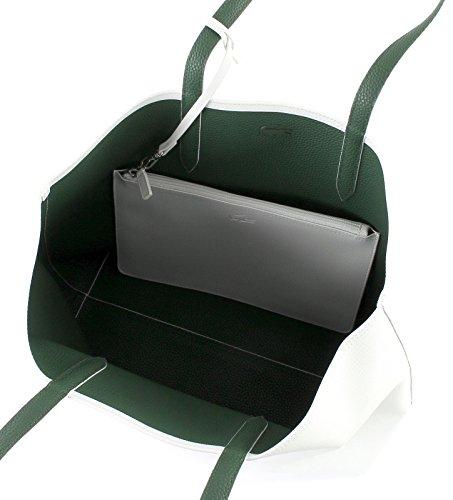 Cabas Lacoste Blanc Réversible Sac vert 8qwHUqx