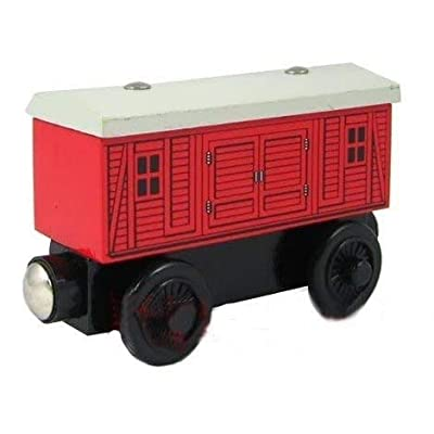 Thomas & Friends Red Baggage Car Wooden Railway Tank Train Engine Loose: Toys & Games