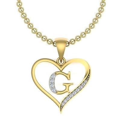 Buy kanak jewels initial letter g in heart shaped with chain gold kanak jewels initial letter quotgquot in heart shaped with chain gold plated cubic aloadofball Images