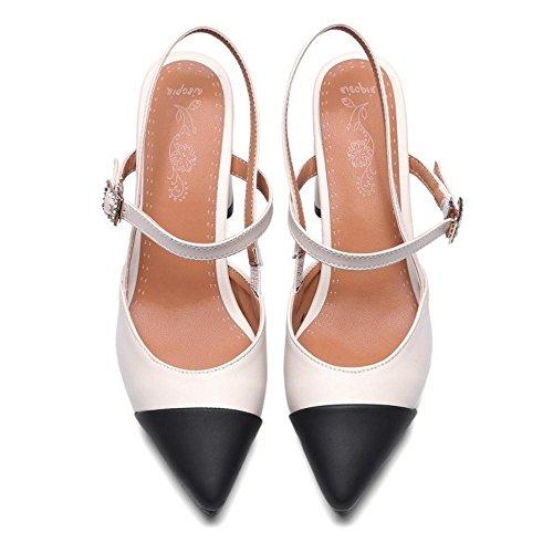 RAZAMAZA Femmes Beige Bloc Sandales Mode OFSOwzgqx