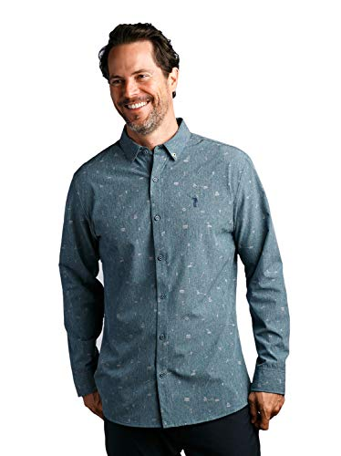 William Murray Ode to Carl Button Down (Large) Blue