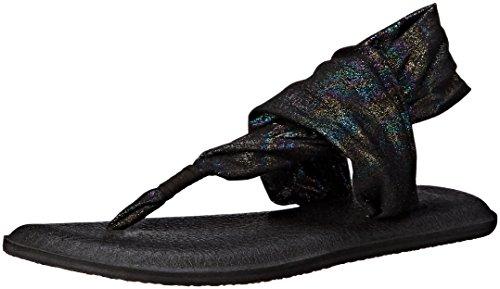 Flip Sling Black 2 Flop Sanuk Yoga Metallic Rainbow Women's xEqxBwX