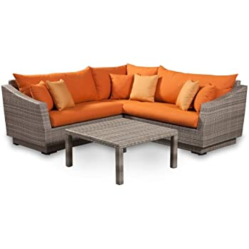 Amazon Com Rst Brands 4 Piece Cannes Sectional And