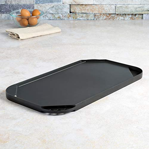 """Ecolution Reversible 19.5"""" x 11, Non-Stick, Dishwasher Safe, Double Burner Family Griddle Grill Pan Cookware, Cast… Salted Salad"""