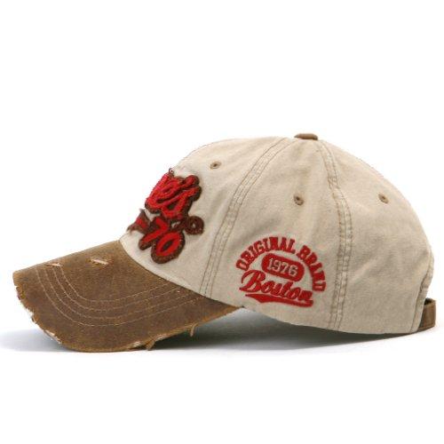 Distressed ililily Embroidered Hat Snapback Trucker Beige Cap Baseball Cane's Vintage v1nORq