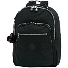 Kipling Seoul Large Backpack with Laptop Protection, Black, One Size
