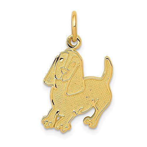 Diamond2Deal 14k Yellow Gold Dog Pendant from Diamond2Deal