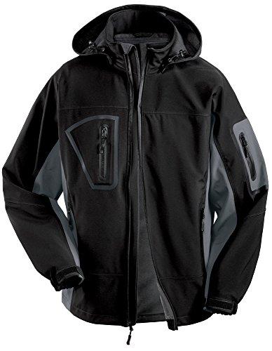 Joe's USA(tm - Men's Tall Storm Ready Fully Waterproof Soft Shell Jacket Graphite/Black