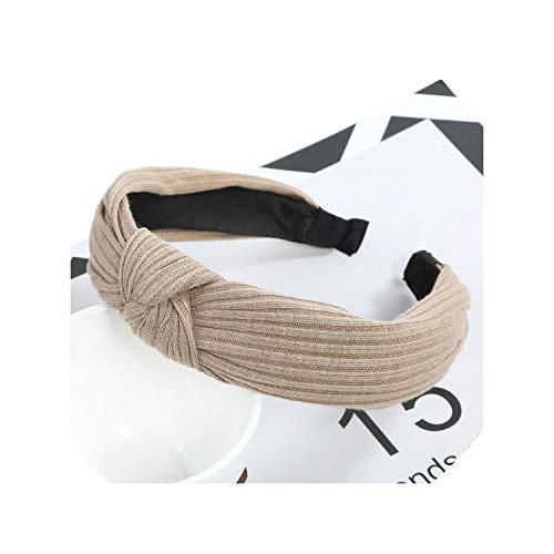 Bohemian Vintage Corduroy Headband Knotted Hairband Hair Accessories,Khaki ()