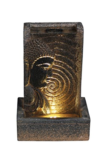 Hi-Line Gift Ltd. Buddha Fountain with Warm White LED Light by Hi-Line Gift Ltd.