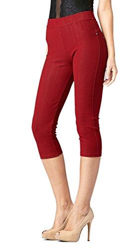 Comfort Denim Cropped Pants - 5