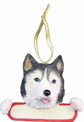 Huskies Santa - Siberian Husky Dog Santa's Pal Christmas Ornament