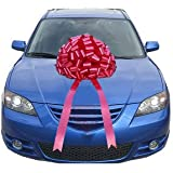 Giant Red Car Bow