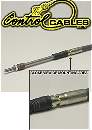 Control Cable Push-Pull Throttle Cable 144 Inches Long With Grooved Housing For Latching Clamps