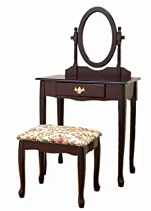 Frenchi Home Furnishing 3-Piece Vanity Set, Espresso Finish