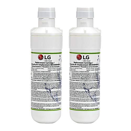 (LG LT1000P Refrigerator Water Filter, Compatible with LT1000PC, 9980, LT120F Water Filter ADQ74793501, MDJ64844601, ADQ74793502, Кеnmоrе 46-9980, LSFXC2496D, LFXC24796S (2 Pack))