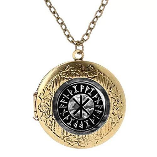 Protection Amulet Photo Locket Pendant Necklace Necklace Norse Mythology Thor God of Thunder