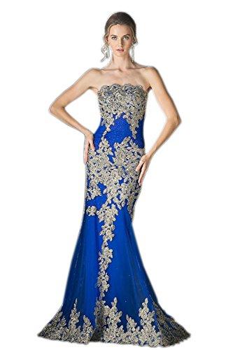 Engerla - Vestido - ajustado - Sin mangas - para mujer Azul