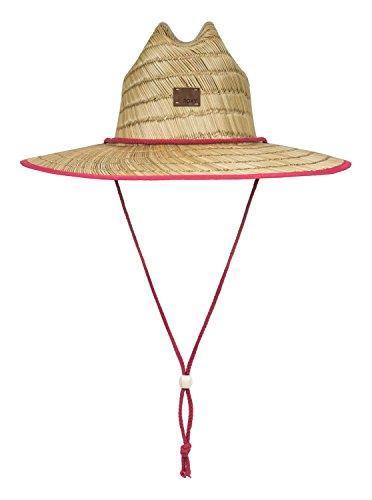 Roxy Womens Tomboy - Straw Lifeguard Hat - Women - M - Pink Holly Berry (Ml Straw Hat)