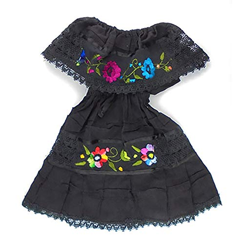 Mexican Clothing Size 0 Baby Girls Mexican Dress Color Black Fiesta Mexicana 5 de Mayo Halloween