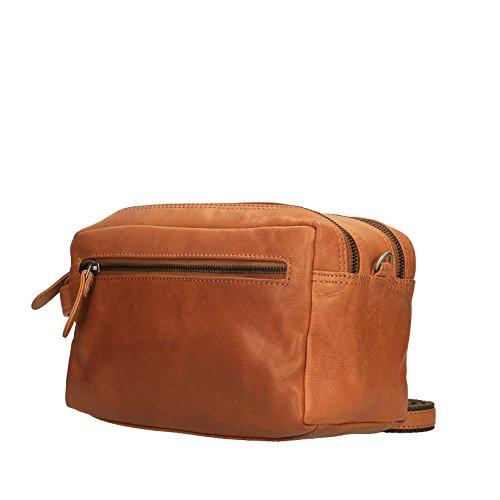 Spalla Con Oggetti 26x16x13 Borsello Cm Bag Luxury Pelle A Travel Unisex In Da Manico Cuoio Viaggio Chicca Vera Porta Borse 87PqWqTB
