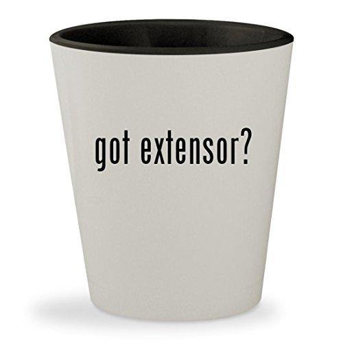got extensor? - White Outer & Black Inner Ceramic 1.5oz Shot Glass