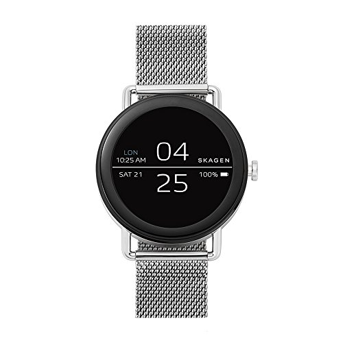 Skagen Connected Falster 1 Stainless Steel Mesh Touchscreen Smartwatch, Color: Silver-Tone (Model:...