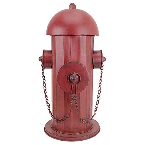 Design Toscano Fire Hydrant Statue Puppy Pee Post and Pet Storage Container, Medium 18 Inch, Metalware, Full Color by Design Toscano (Image #1)