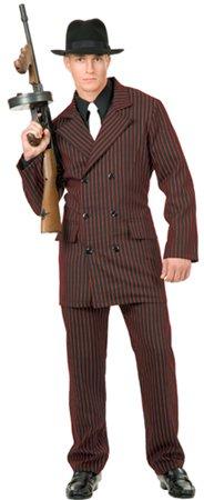 AdltSzL Gangster Dbl-Brstd Suit (Mafia Halloween Costume)