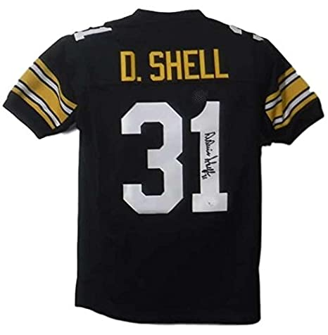 0580a977300 Image Unavailable. Image not available for. Color: Donnie Shell Signed  Jersey - XL Black ...