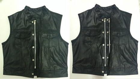 Chaleco-chaqueta para moto de piel Sons Of Anarchy S.O.A. ...