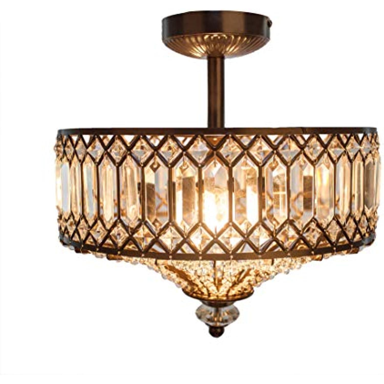 15.25H Tiered Jeweled Glass and Metal Semi-Flush Mount Lighting Fixture - Bronze