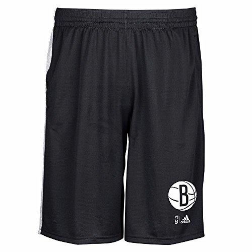 adidas Brooklyn Nets NBA Men's Black 2015-16 Tip-Off Climalite Performance Shorts (Adidas Mens Nba Performance Short)