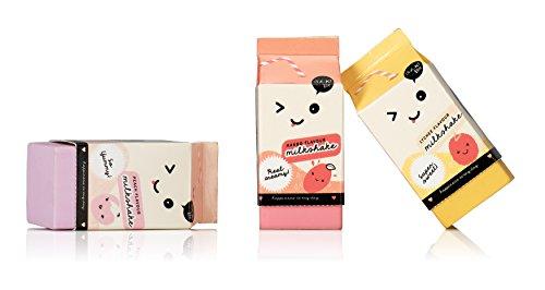 Oh K! 3-Piece Scented Milkshake Carton Eraser Set by Oh K! (Image #1)