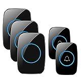 Best Wireless Doorbells - Wireless Doorbell, FullHouse Waterproof Door Chime Kit Includes Review