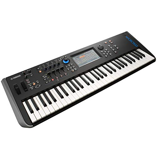 Yamaha MODX6 61-Key Synthesizer With Stand, Bench & 10ft Mogami Gold Key Balanced Keyboard Cable