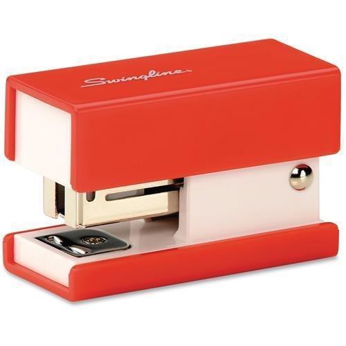 "Swingline Mini Stapler, Fashion, 12/ST Cap, 3.75""x1.17""x4.8"", Red"