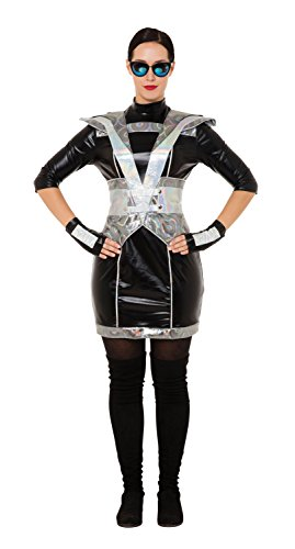 Bristol Novelty AC297 Police Lady Costume, Womens, Silver, UK -
