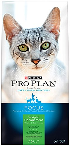 (Purina Pro Plan Weight Control High Protein Dry Cat Food; FOCUS Weight Management Chicken & Rice Formula - 3.5 lb. Bag )