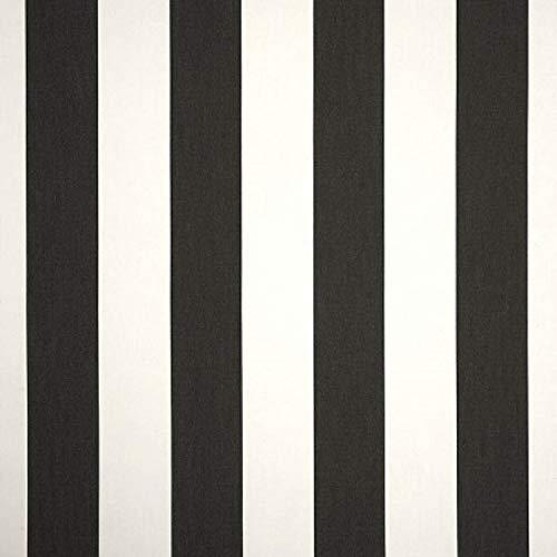 Sunbrella Indoor/Outdoor Upholstery 3 Yard Cut Piece of Fabric ~ Cabana Classic Black Stripe (And White Stripe Black Sunbrella)