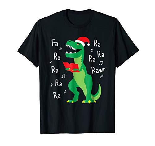 Fa Ra Rawr T-Rex Christmas Carol Funny Fa La La T-Shirt