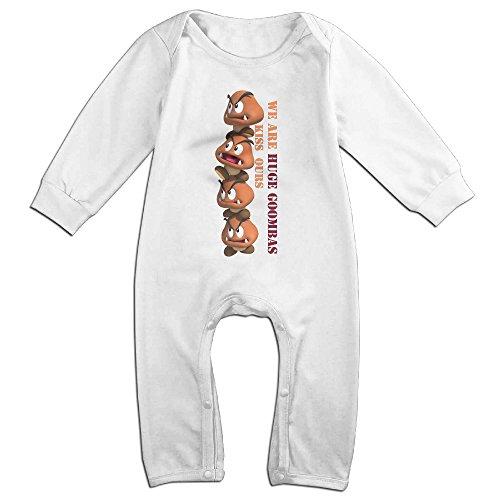 [HOHOE Boy's & Girl's Super Mario Bro Goomba Long Sleeve Romper Bodysuit 12 Months] (Makers Mark Costume)