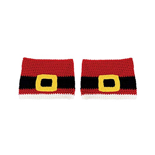 Design Engineering Women's Santa Belt Boot Cuffs - Mr. Mrs. Claus Boot Toppers