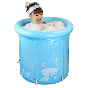 Amazon.com : Pro4u Super-thick Adult Folding Bathtub, Inflatable ...