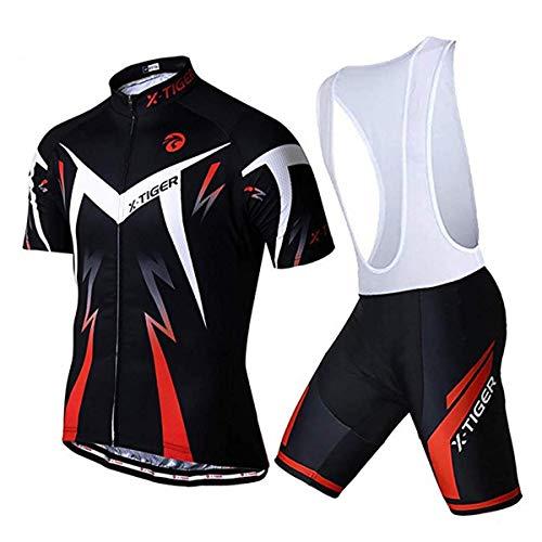 X-TIGER Maillots Tirantes Culotte Pantalones Cortos Culotes - Bicicleta MTB Ciclismo - Hombre