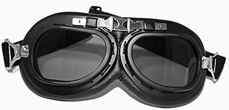 colore nero ATO 102 Occhiali da aviatore in stile vintage per moto