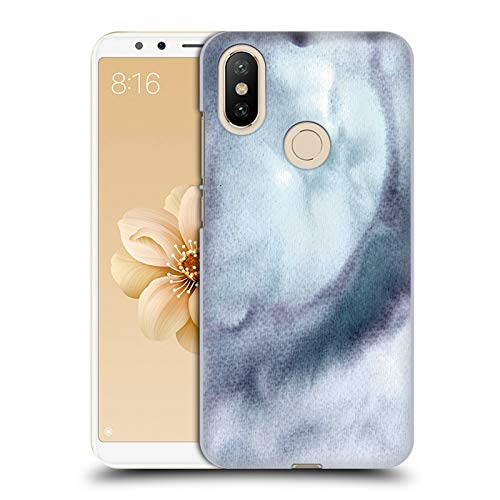 Official Julien Corsac Missaire Marbled Milk Purple Grey Abstract 2 Hard Back Case for Xiaomi Mi A2 / Mi 6X -  Head Case Designs, HC-MIA2-JMISABS2-PGR